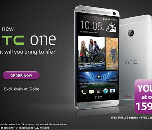 Globe exclusively offers HTC One with LTE for P1,599 per month
