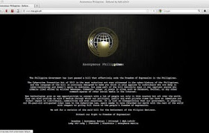 Anonymous Philippines hackers deface BSP, MWSS, other sites protesting Cybercrime Law