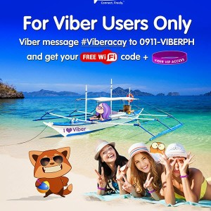 #Viberacay: Viber offers free wifi access in Boracay