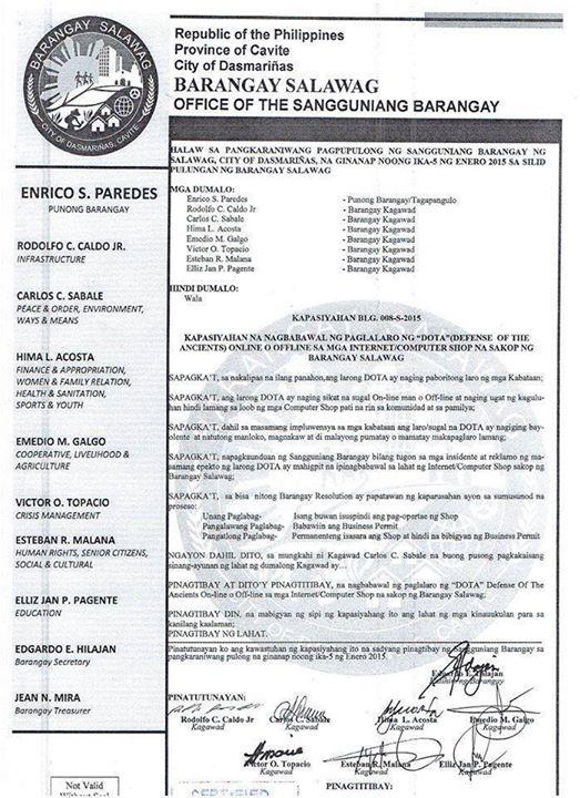 Barangay-in-Cavite-Bans-DOTA