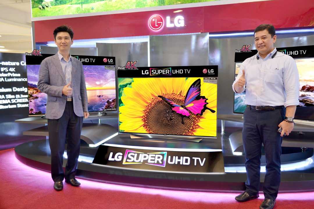 LG Super UHD TV with EXECUTIVES