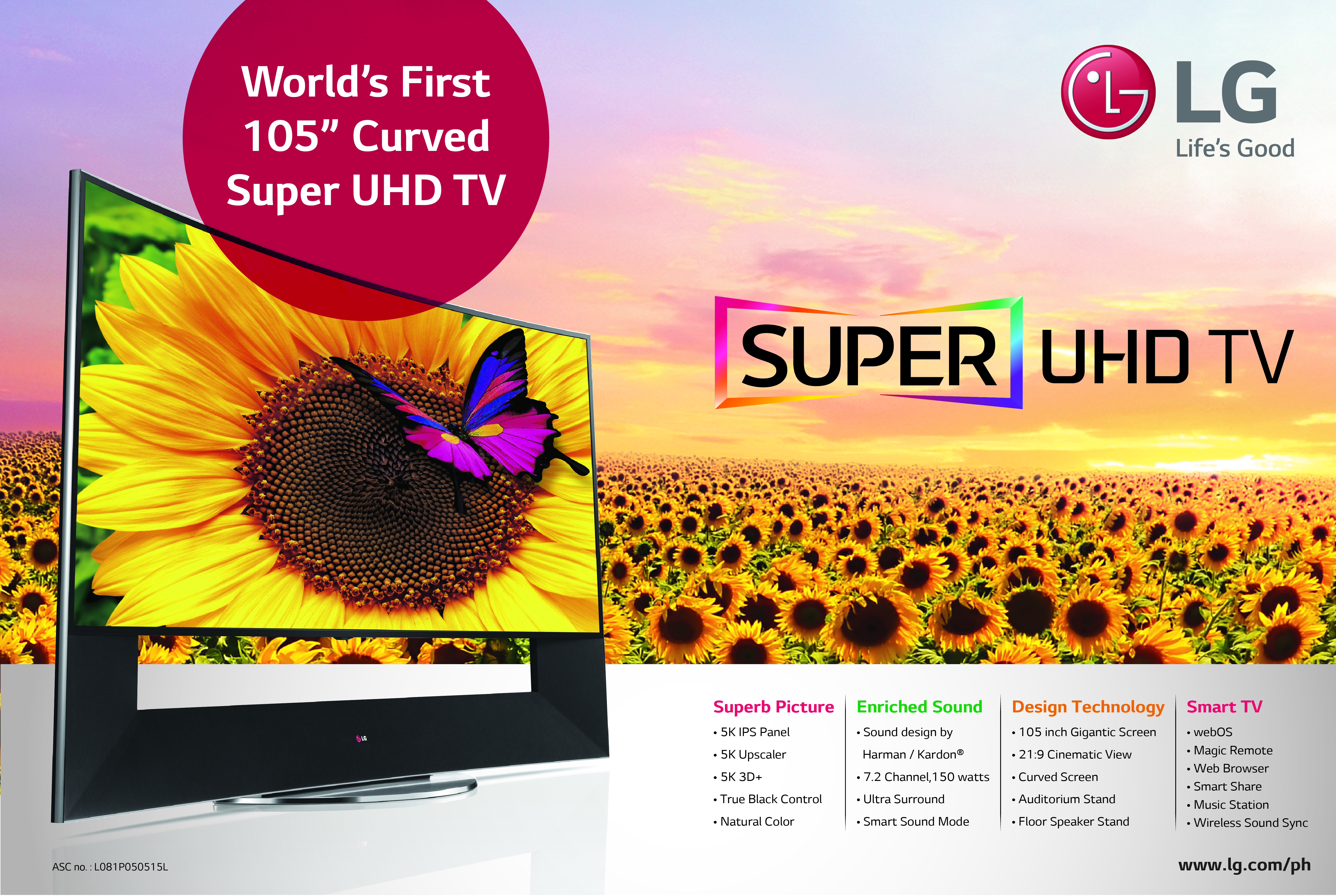 1df634fdfbf The World s First 105-inch Curved Super ULTRA HD TV