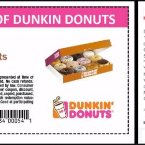 Fake Dunkin' Donuts Promo Page