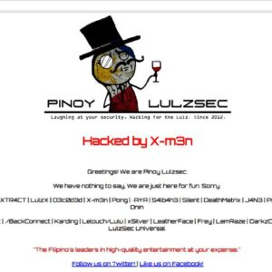 Pinoy Lulzsec hacks 2 LGUs, 1 state university websites