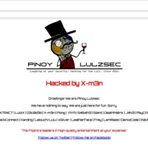 Pinoy LulzSec defaces Phil-Nippon Technical College's website