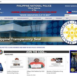 PNP-CIDG gets compromised; site filled with multiple malicious links