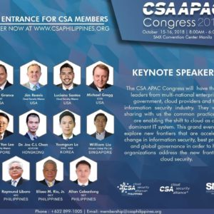 CSA PH to host CSA APAC Congress 2018
