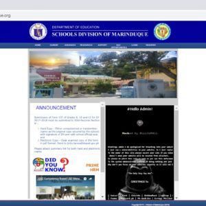 K1LL3rB4LL compromises DepEd Marinduque website