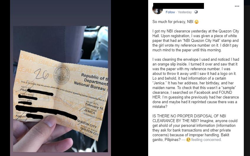 Netizens raise data privacy alarm over NBI's disposal policy